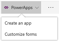 The PowerApps command in SharePoint